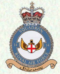 No 14 Squadron Badge. Motto: I spread my wings and keep my promise. From the Koran. Military Cap, Military Insignia, Royal Air Force, Crests, British Army, Coat Of Arms, Armed Forces, Badge, Aircraft