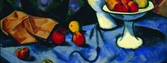 """Max Pechstein, """"Still Life with Nude, Tile, and Fruit"""" (detail), 1913"""