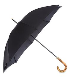 Inject some luxury into those rainy days with this umbrella from Fulton. With a metre-wide area of coverage and real elmwood crook handle, this is undoubtedly an umbrella fit for even the most discerning person. Fulton, Cocktail, Luxury, Polyvore, Design, Women, Style, Clothes, Black