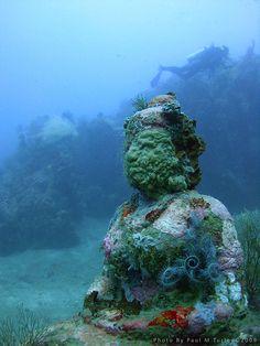 Underwater temple garden pemuteran bali