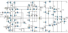 1400W High Power Audio Amp - schematic