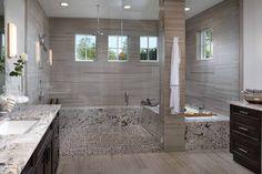 Beautiful bathroom with modern features! http://www.arthurrutenberghomes.com/