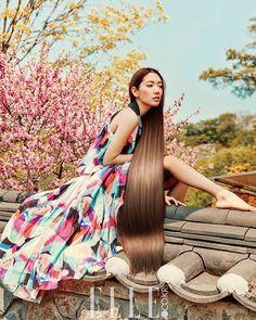 """Oriental Rapunzel"". Park Shin Hye (@ssinz7 ) for Elle Korea (@ellekorea ) July 2016. Photographed by @studioioo"