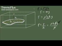 Presión y fuerza ejercida por un fluido (conceptos para cálculo integral)