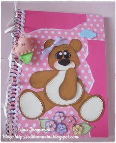 cadernos personalizados com eva urso no regador - Pesquisa Google