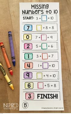 Addition and subtraction with missing numbers to This low-prep, high-engagement math center is FUN for students and easy for the teacher! First Grade Teachers, First Grade Classroom, Math Classroom, Classroom Ideas, Elementary Teaching, Teaching Math, Second Grade Math, Grade 1, Teaching Resources
