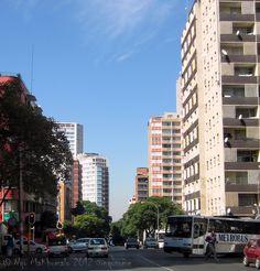 Metro bus takes the corner - Berea suburb, #Johannesburg #joburg