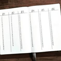 Vertical Bullet Journal Future Log by @lindaplans