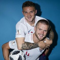 Eric Dier and Kieran Trippier of England pose for a portrait during the official FIFA World Cup 2018 portrait session at on June 2018 in Saint Petersburg, Russia. England World Cup Squad, Kieran Trippier, Fifa World Cup 2018, Paris Saint Germain Fc, England National Team, Tottenham Hotspur Football, Spanish Men, White Hart Lane, English Men