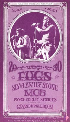 Classic Poster - Fugs at Grande Ballroom 3/29 & 30/68 by Gary Grimshaw