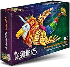 Amazon.com : drawings ideas creative Sketchbook Prompts, Art Prompts, Drawing Prompt, Drawing Games, Creature Drawings, Animal Drawings, Art Drawings, Infinite Art, Animal Games