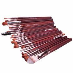 ab8c2ae994b 20Pcs Rose gold Makeup Brushes Set Pro Powder Blush Foundation Eyeshadow  Eyeliner Lip Cosmetic Brush Beauty Make up Brushes Tool-in Makeup Scissors  from ...
