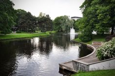 Kronvalda Park, Riga, Latvia.