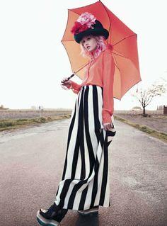Big orange umbrella. charlotte11 Charlotte Free by Paul Schmidt for Jalouse June/July 2011