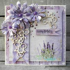 jeg har lavet et kort i lidt forårsfarver, papiret er fra Craftandyou design  og chipboard fra Wycinanka Blomsterne er lavet med denne skøn...