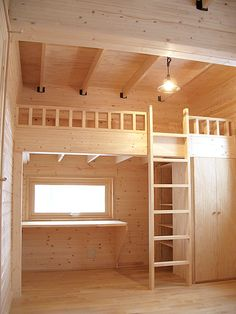 Best Bedroom Loft Diy Furniture Plans Ideas – My World Loft Bed Plans, Diy Furniture Plans, Small Room Design, Girl Bedroom Designs, Bedroom Loft, House Rooms, Diy Loft Bed, Tiny House Interior Design, Dream Rooms
