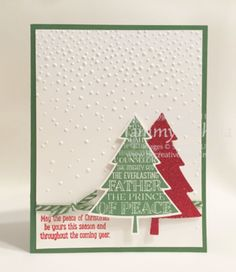 Peaceful Pines Stamp Set and Perfect Pines Framelits Dies