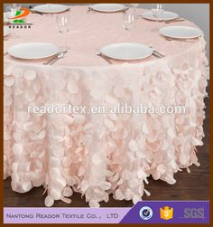 "72""/90''/108''/120''/132 Polyester Satin Cheaptaffeta Petal Square/rectangluar/rectangle Wedding Table Cloth Rosette Tablecloths - Buy Elegant Wedding Tablecloths,Cheaptaffeta Petal Table Cloth,Round Petal Tablecloth Product on Alibaba.com"
