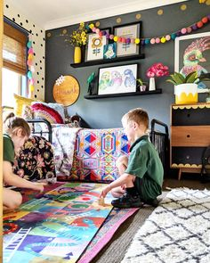 The kids were all ready before 8am this morning and had time to play our @littlesmithco floard (floor board) game!! 🤯 What is this…