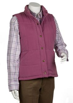 Bonart country Clothing Jade Quilted Jacket Ladies peach finish padded bodywarmer Two hand pockets One zipped inside pocket Available in Mauve and