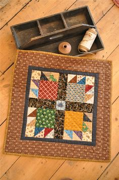 Love this bear paw pattern and how the quilter made such good use of scrap fabric. Nice.