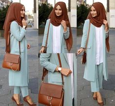 - Anzeige l Werbung Suit / Hosen-Anzug / Takim – ☺️… Ad l Advertising Suit / Pants Suit / Takim – ☺️☺️ I wear suits very rarely but in here I have … Hijab Casual, Hijab Outfit, Modest Fashion Hijab, Hijab Chic, Hijab Dress, Fashion Outfits, Simple Hijab, Dress Casual, Fashion Fashion