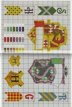 Gráficos ponto cruz da drica: Harry Potter