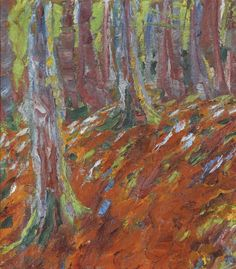 Emil Nolde (German, 1867-1956), Waldboden [Forest Floor], 1906. Oil on canvas, 47.2 x 42.2 cm