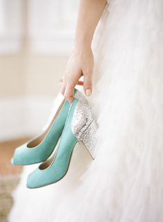 Top 20 Something Blue Wedding Shoes - Bridal Musings Blue Wedding Shoes, Bridal Shoes, Wedding Jewelry, Wedding Colors, Something Blue Wedding, Bridal Musings, Mint, Pretty Shoes, Tiffany Blue