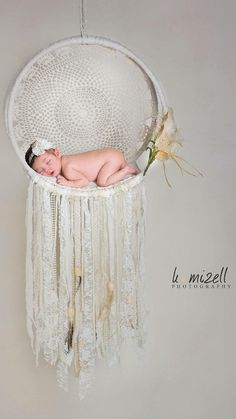 Lace Dream Catcher  Newborn Photo Photography Prop от GypsieStitch