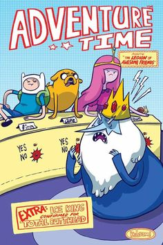 Oh My Glob! Adventure Time creator Pendleton Ward is a huge LSH fan, so it was only a matter of time before we got an Adventure Comics 247 cover homage! Mike Holmes, Pendleton Ward, Legion Of Superheroes, Silver Age Comics, Ice King, Summer Special, Comic Book Covers, Looney Tunes, Marvel Dc