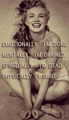 I smile even though i'm dying inside #lifeslessons #gottahidethepain