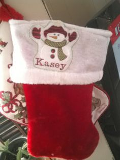 Another stocking transformed, using the brother se400 home embroidery machine and free download from embroiderydesign.com