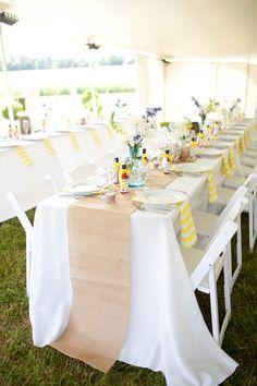 Burlap Wedding Table Runners