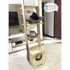 Gimnasio para gatos vertical movil de 4 niveles I Love Cats, Shoe Rack, Pets, Diy, Furniture, Business, Home Decor, Animals, Home