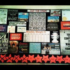 wieghtloss goals board | personal # journey2bfit # motivation