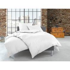Bettwaesche-mit-Stil Satin Bettwäsche einfarbig/uni weiß Baumwolle/Modal