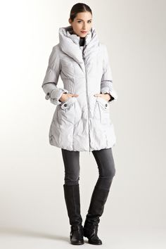 A puffer coat without the bulk.  Happy Goat Lucky Paris Puffer Coat via HauteLook
