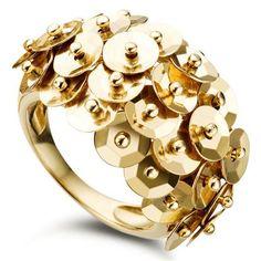 Brazilian jewelry company Vivara's 18K gold sequin ring!