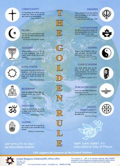 Some form of the Golden Rule is expressed in all the main world religions