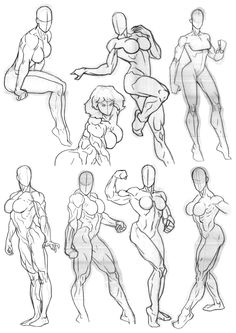 Anatomy Drawing Reference Going back to some of the stuff that I'm better known for. Drawing muscle is awesome for comic anatomy, by doing it over and over it sticks in the mind and helps when you come to drawing figures from the top of your head. Male Figure Drawing, Body Reference Drawing, Female Drawing, Body Drawing, Art Reference Poses, Drawing Muscles, Anatomy Sketches, Body Sketches, Anatomy Drawing