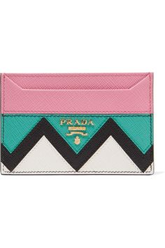 Prada | Paneled textured-leather cardholder | NET-A-PORTER.COM