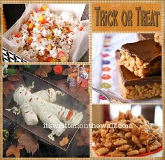 It's Written on the Wall: 25 Halloween Treat/Dessert Ideas for School & Home…