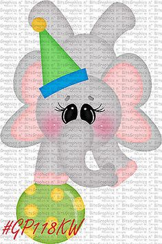 S- SL- CIRCUS ~ ELEPHANT ~ Scrapbook Embellishment GNB567
