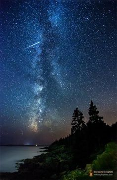 Milky Way & Meteor – Acadia National Park, Maine