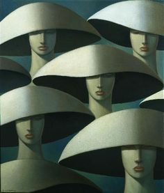 'Shades of Green' oils on linen painted by George Underwood 2008