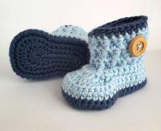 Baby Boy Booties, Baby Boy Boots, Crochet Baby Booties, Baby Boy Shoes, Newborn Baby Shoes, Baby Shower Gift