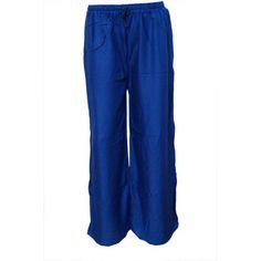 16a48a2942c3 Mogul Interior - Mogul Women s Casual Harem Pant Wide Leg Solid Blue  Palazzo Pants - Walmart.com