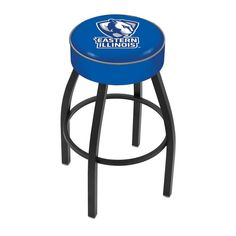 Eastern Illinois Panthers Black Wrinkle Swivel Bar Stool