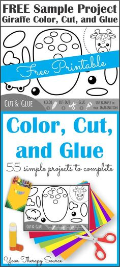 Color Cut Glue for December - Scissor Skills Practice - Your Therapy Source Therapy Activities, Learning Activities, Preschool Activities, Time Activities, Scissor Practice, Scissor Skills, Cutting Activities, Preschool Cutting Practice, Teaching Kids